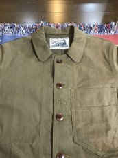 画像2: Dapper`s(ダッパーズ) Crassical Roundneck Work Jacket KHAKI BEIGE (2)