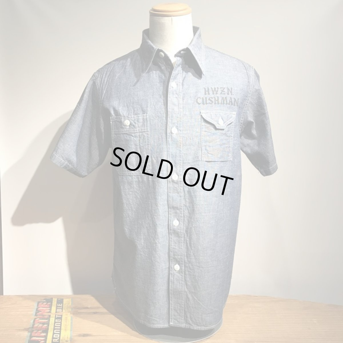 画像1: CUSHMAN(クッシュマン) CHAMBRAY WORK SHIRTS(CUSHMAN×HWZN) (1)