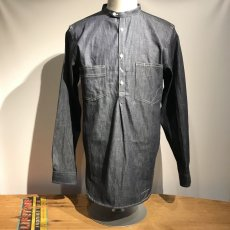 画像1: Dapper`s(ダッパーズ)Classical Stand Collar Pullover Work Shirts (1)