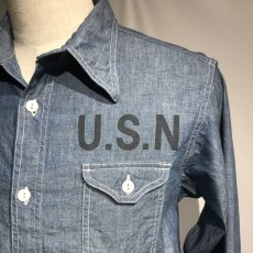 画像3: CUSHMAN(クッシュマン) CHAMBRAY WORK SHIRTS(U.S.NAVY) (3)