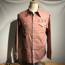 画像10: CUSHMAN(クッシュマン) CHAMBRAY WORK SHIRTS(U.S.NAVY) (10)