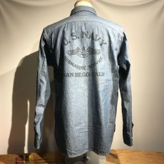 画像8: CUSHMAN(クッシュマン) CHAMBRAY WORK SHIRTS(U.S.NAVY) (8)