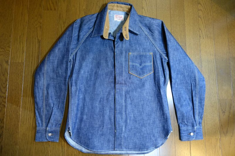 画像1: DELUXEWARE(デラックスウエア) ジェルトデニム ワークシャツ (1)