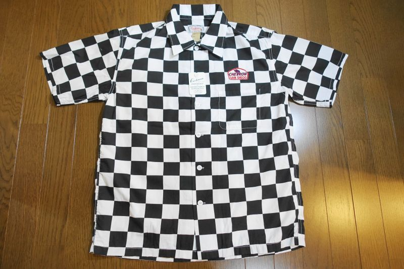 画像1: CUSHMAN(クッシュマン) CHECKER FLAG SHIRTS (CHEVRON) (1)