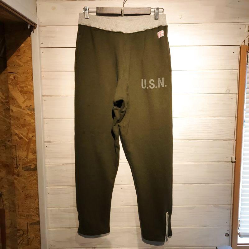 画像1: CUSHMAN(クッシュマン) PYLE SWEAT PANTS (U.S.NAVY) (1)