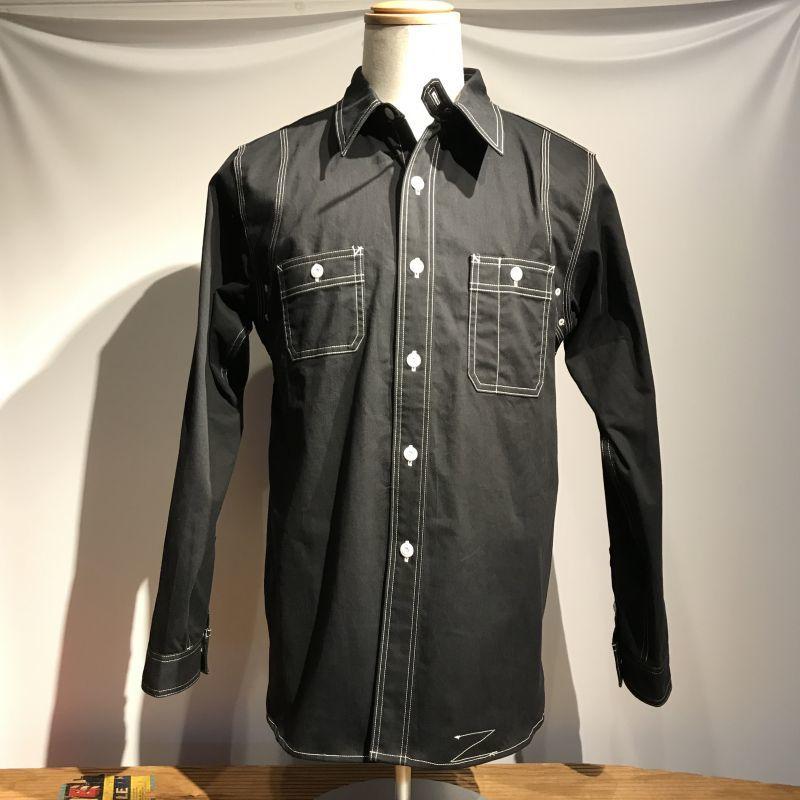 画像1: Dapper`s(ダッパーズ)Triple-Stitched Ventilation Work Shirts  (1)