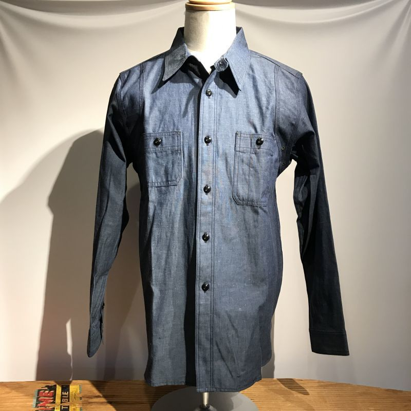 画像1: Dapper`s(ダッパーズ)Triple-Stitched Ventilation Work Shirts  (1)