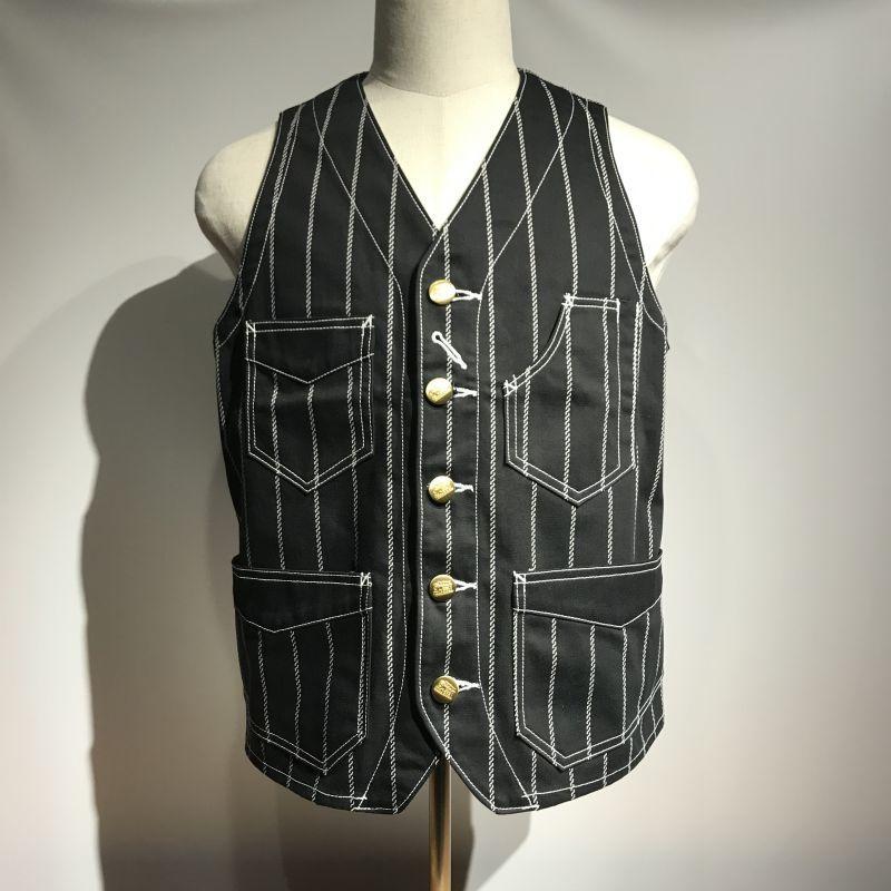 画像1: Dapper`s(ダッパーズ) Classical Railroader Work Vest (1)