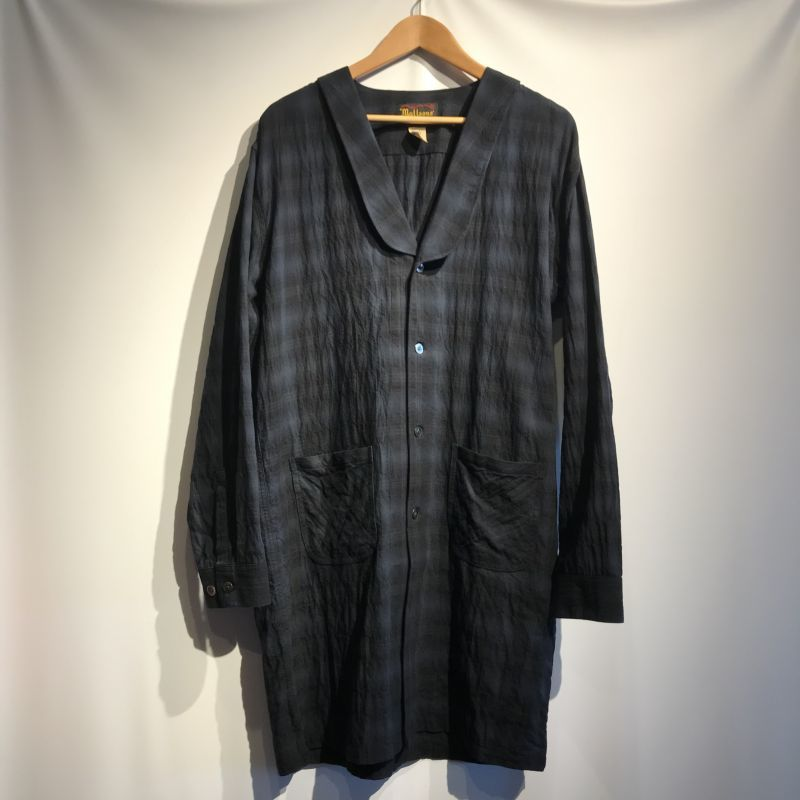 画像1: MATTSONS'  HERRINGBONE OMBRE PLAID DRAPE SHIRTS (1)