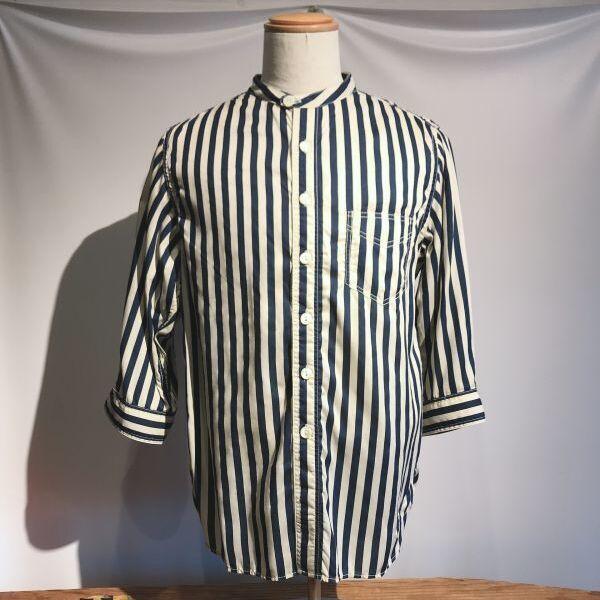 画像1: Dapper`s(ダッパーズ) Rayon Stand Collar 3/4 Sleeve Work Shirts (1)