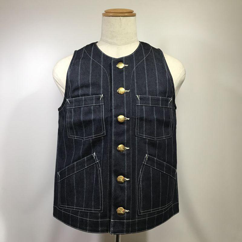 画像1: Dapper`s(ダッパーズ) Classical Round Neck Work Vest (1)